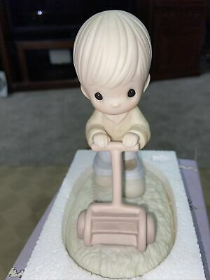 £0.71 • Buy Precious Moments Mow Power To Ya 1989 Members Only Figurine Enesco Porcelain