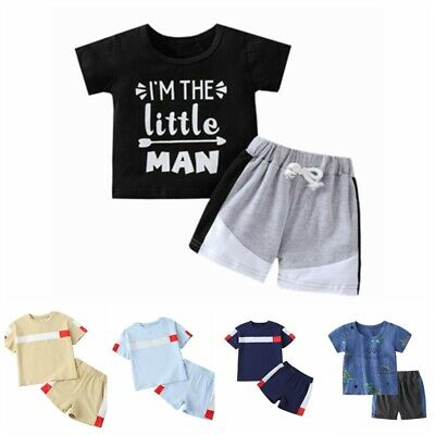 £9.27 • Buy Infant Baby Boys Sport Suit Short Sleeve Top T-shirt Shorts Casual Outfits Set