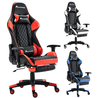 £75.99 • Buy Gaming Chairs Racing Computer Office Chair Swivel Recliner PU Leather Home Seat