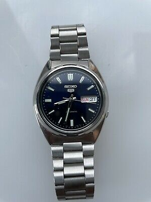 £75 • Buy Seiko 5 Automatic Blue Dial Silver Stainless Steel Men's Watch SNXS77K1