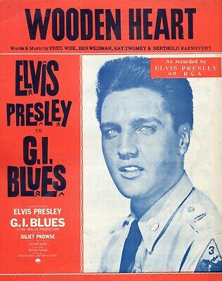 £6.99 • Buy THE MUSIC SCORE SHEET. FOR ELVIS PRESLEY's  WOODEN HEART   FROM G.I.BLUES-1960