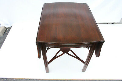 $750 • Buy Lovely English Mahogany Pembroke Sofa Side Table By Virginia Galleries, C. 1960