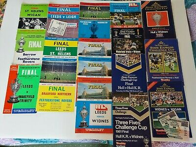 £29.95 • Buy 17 Ruby League Challenge Cup Final Programmes 1966-1984 Two With Tickets