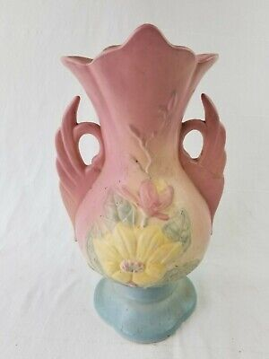 $9.95 • Buy Early Hull Art Pottery MAGNOLIA Colorful SWAN Handled VASE 17 12 1/4  USA- AS-IS