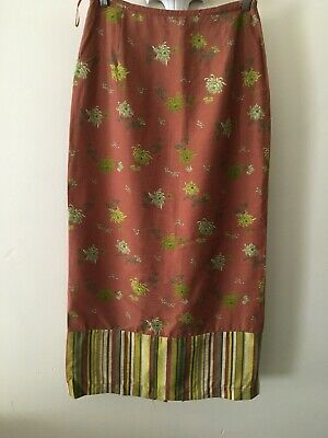 £6.76 • Buy Quality SIMCLAN  Ethnic / Indian  Style    Straight Midi Skirt   Size 10
