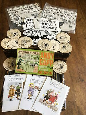 £23.50 • Buy ANDY CAPP By Reg Smythe Job Lot 80s Retro Collection ,ceiling Mobiles,cards,beer