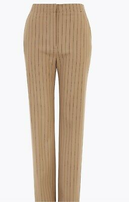 £13.50 • Buy M&S Autograph Straight Leg Trousers With Wool BNWT Size 12 Long Cognac Colour