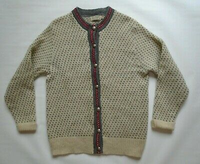 $40 • Buy Mens Large Vintage L.L. Bean Metal Button Wool Sweater USA Made Freeport Maine