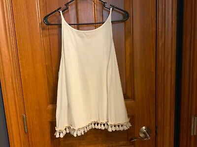 $35 • Buy Lilly Pulitzer Medium White Swing Shell Tank Top, 100% Cotton - NEW