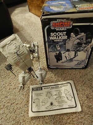 $ CDN125.38 • Buy Vintage Star Wars Figure Collection AT-ST Vehicle With. Empire Box 1982 ESB ROTJ