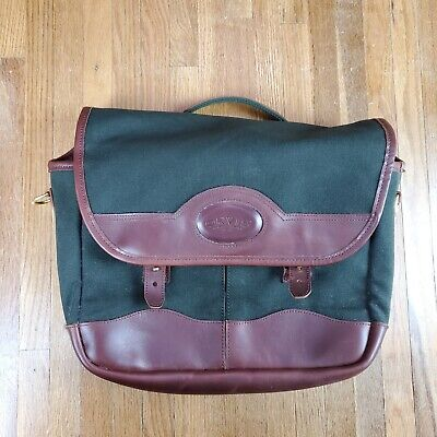 $134.99 • Buy Vintage Orvis Leather Canvas Messenger Bag Made In USA Cross Body Carrying Case