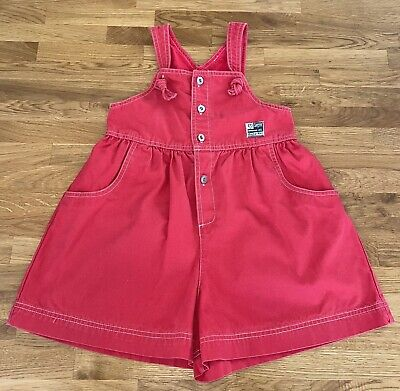 £3.99 • Buy French Designer Girls Short Dungarees Age 7-8 Years 126cm Ex Con