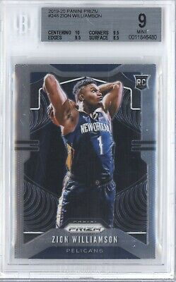 $5.50 • Buy Zion Williamson 2019 20 Panini Prizm #248 Rc Rookie Bgs 9 New Orleans Pelicans