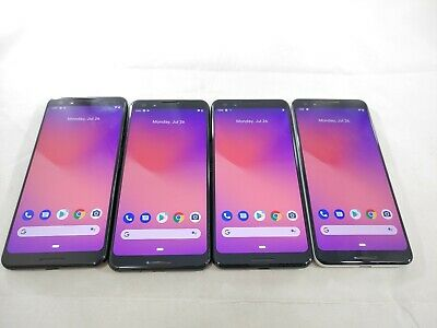 $ CDN129.20 • Buy LOT Of 4 Google Pixel 3 G013A 64GB GSM Unlocked Android Smartphone #A355L
