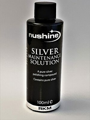 £10.99 • Buy Nushine Silver Maintenance Solution 100mls -  MAINTAIN YOUR SILVER PLATING