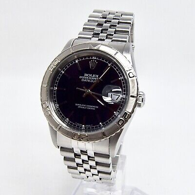 $ CDN10455.95 • Buy Rolex Datejust 16264 Box And Papers 1993 Full Set Rare Thunderbird Black Dial