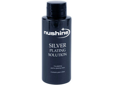 £8.99 • Buy NUSHINE SILVER PLATING SOLUTION -PLATE METALS WITH REAL SILVER - 50ml BOTTLE
