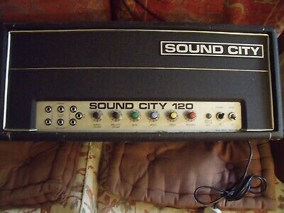 £100 • Buy Sound City 120 Vintage Valve Guitar/Bass Amp, Working, SPARES/REPAIRS 4 Project!