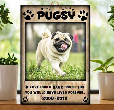 £9.90 • Buy Personalised Dog Memorial Plaque Wall Photo Pet Sign Friends Bereavement Gift