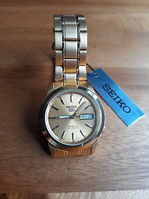 £57 • Buy Gents Gold Plated  Seiko Series 5 Automatic Watch