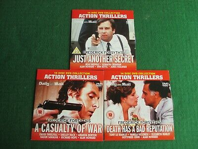 £4.99 • Buy 3 X DVDs Promo FREDERICK FORSYTH'S CASUALTY OF WAR / JUST ANOTHER SECRET / DEATH