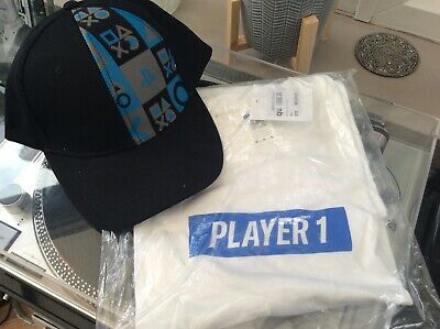 £0.99 • Buy PlayStation Cap / Baseball Hat And Medium Sized T-shirt New With Tags