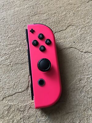 $29.99 • Buy Genuine Nintendo Switch Right Side Neon PINK Joy Con Controller Only! Tested!