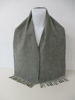 $1.39 • Buy BURBERRY SCARF, Lambswool, Plain Mid Grey, Embroidered Logo, MARKED, 58  X 10.5