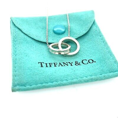 £144.53 • Buy Tiffany & Co. Sterling Silver 1837 Interlocking Circle Rings Necklace 16