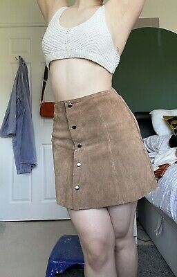 £5.99 • Buy Topshop Boutique Suede Skirt 60s Style Size 6