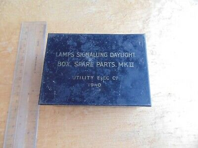 £4.99 • Buy  Rare Ww2 British Army Signalling Lamps Spare Parts Tin Utility Elec Co. 1940.