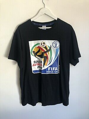 £15.99 • Buy Fifa 2010 Black T Shirt South Africa World Cup Size XL L Cotton RARE Official