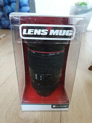 £4 • Buy Camera Lens Mug With Biscuit Holder By Thumbs Up! Novelty Mug Boxed