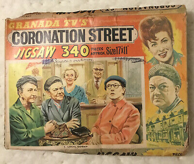 £0.99 • Buy Vintage Coronation Street Jigsaw Puzzle, 'Local Gossip' 3 Pieces Missing.
