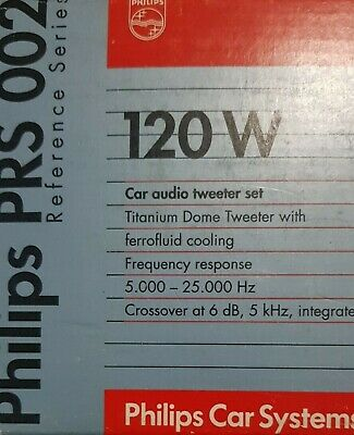 £49.95 • Buy Philips PRS00 Reference Component Titanium Dome Car Tweeters 68MM