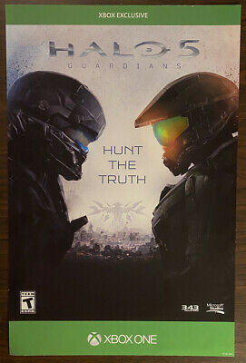 £32.92 • Buy Halo 5 Guardians Video Game Store Advertising Sign Promo Poster ~ GameStop Rare