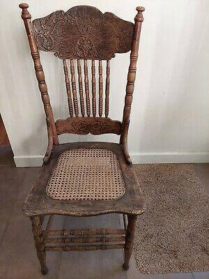 AU40 • Buy  Antique Victorian Pressed Back Chair With Spindles