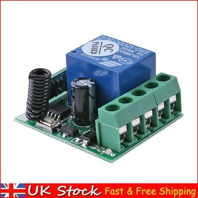 £6.51 • Buy DC 12V 1CH 433MHz Wireless Relay Switch Receiver Module For RF Remote Control