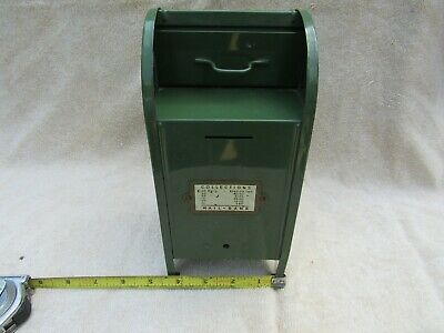 $19.99 • Buy Vintage Old Post Office Metal Mail Box  Antique Toy Dark Green