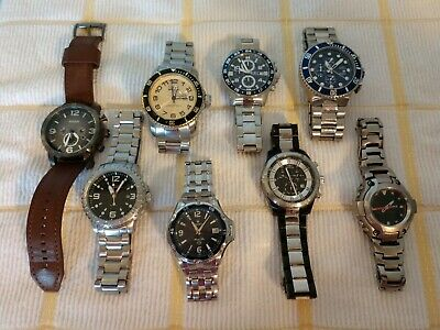 $119.59 • Buy Watch Lot Parts Or Wear Invicta Bulova Mr.G, Fossil Unchecked Show Damage As Is