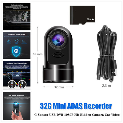 AU42.69 • Buy Dash Cam Front And Rear Security Camera For Car 32G ADAS Driving Recorder Video