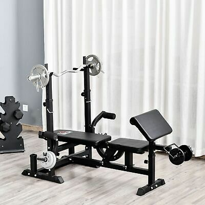 £119.99 • Buy HOMCOM Multi-Exercise Full-Body Weight Bench With Bench Press & Leg Extension