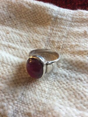 £25 • Buy Ruby Oval Dome Ring.925 Silver.Size O