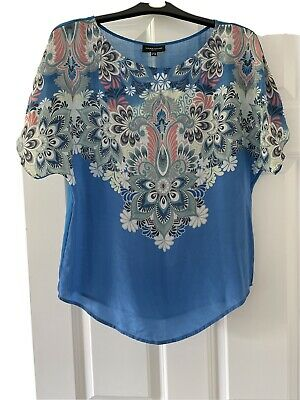 £1.90 • Buy Warehouse Silk Floral Print Top - Size 10