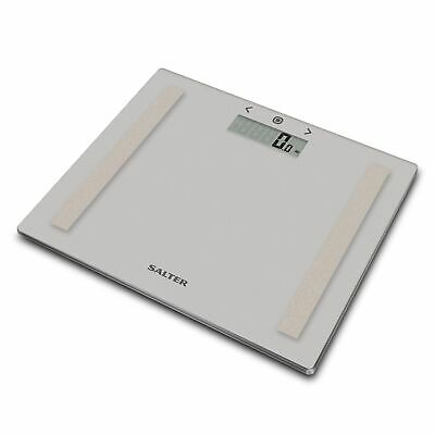 £19.39 • Buy Salter Bathroom Scales, Glass Analyser Style, Compact, Black/Grey/Silver