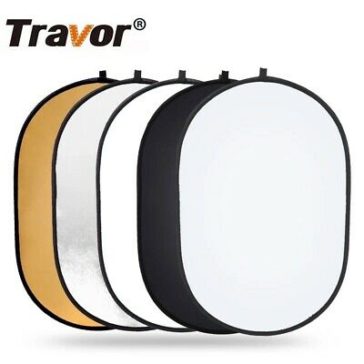 £14.49 • Buy 60x90cm Oval Collapsible 5in1 Photography Studio Light Reflector Diffuser Oval