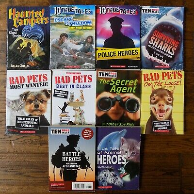 £10.85 • Buy Lot 10 Allan Zullo 10 True Tales Ghost Tales Bad Pets Books Haunted Campers