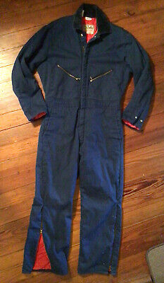 $32 • Buy Walls Blizzard Pruf Mens Medium Short Chest 38-40 Navy Blue Insulated Coveralls