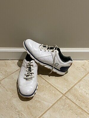 $19.99 • Buy FootJoy Mens Pro SL 53533 White Leather Spikeless Low Top Golf Shoes Size 8.5