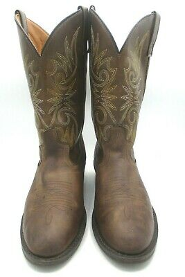 $39.99 • Buy Laredo Mens Western Cowboy Boots Leather Embroidery Tan Sz 9 D